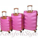 Набор дорожных чемоданов Bonro Next 3 штуки розовый (10642306), фото 2