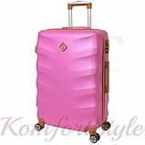 Набор дорожных чемоданов Bonro Next 3 штуки розовый (10642306), фото 3