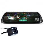 """Автомобильное зеркало видеорегистратор Lesko 10"""" Car K62 камера 12Мп функция WDR ночная съемка камера заднего, фото 4"""