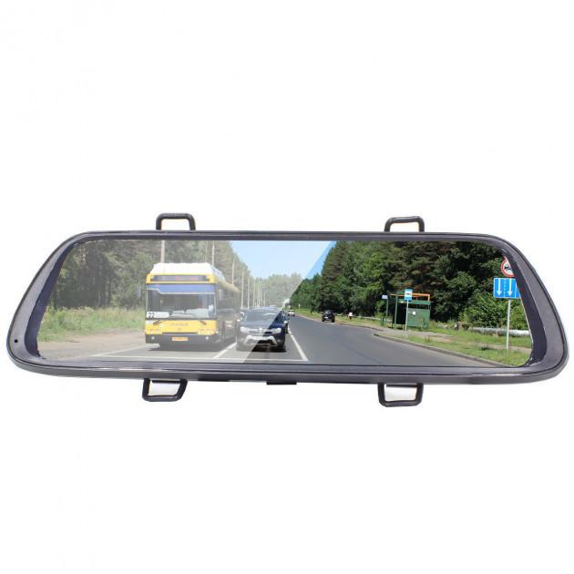 """Автомобильное зеркало видеорегистратор Lesko 10"""" Car K62 камера 12Мп функция WDR ночная съемка камера заднего"""