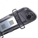 """Автомобильное зеркало видеорегистратор Lesko 10"""" Car K62 камера 12Мп функция WDR ночная съемка камера заднего, фото 7"""