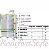 Набор дорожных чемоданов Bonro Next 3 штуки розовый (10642306), фото 6