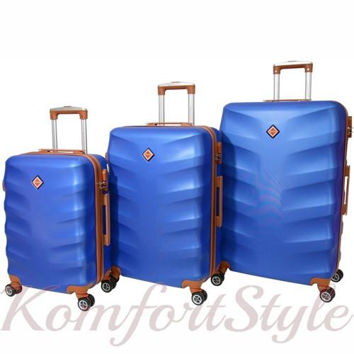 Набор дорожных чемоданов Bonro Next 3 штуки синий (10642301)
