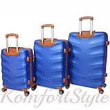 Набор дорожных чемоданов Bonro Next 3 штуки синий (10642301), фото 2