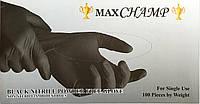 Перчатки нитриловые чёрные (неопудренные), 100 штук , размер М, фото 1