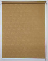 Рулонная штора 875*1500 Ткань Лён 632 Коричневый, фото 1