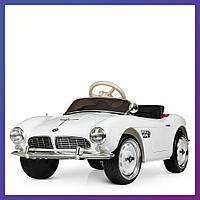 Детский электромобиль BMW c пультом Bambi M 4169 EBLR-1 белый   Дитячий електромобіль Бембі білий