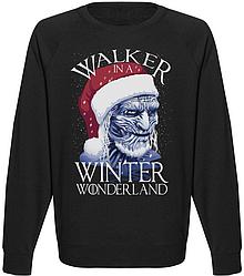 Мужской свитшот Game Of Thrones - Walker In A Winter Wonderland (чёрный)