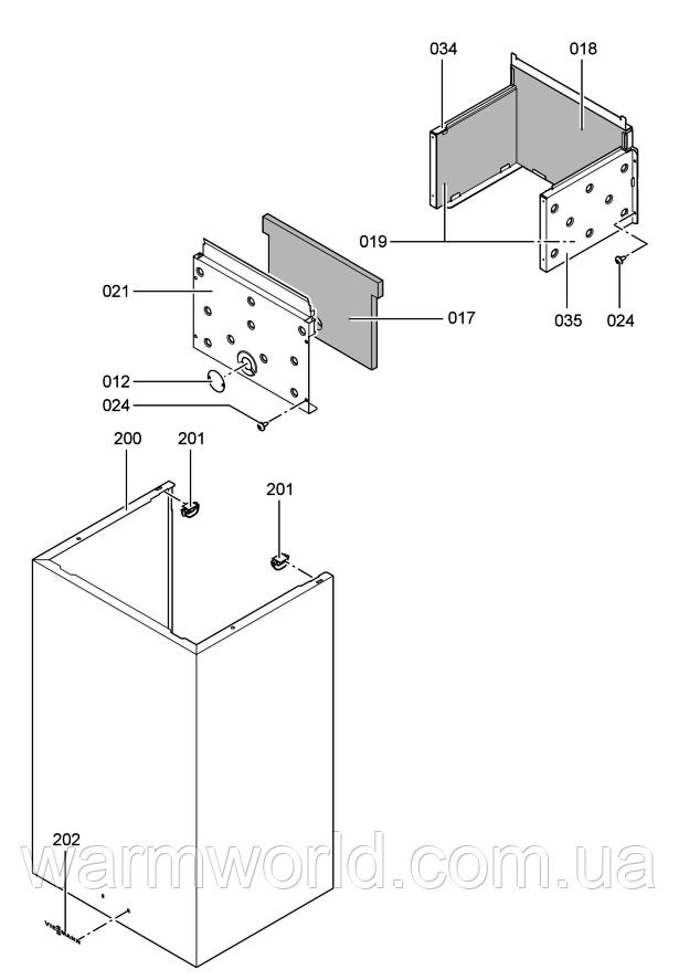 Взрывной чертеж Схема WH1B 1
