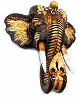 "Настенный декор из дерева ""Голова слона"" 24х24х10 см (32987)"