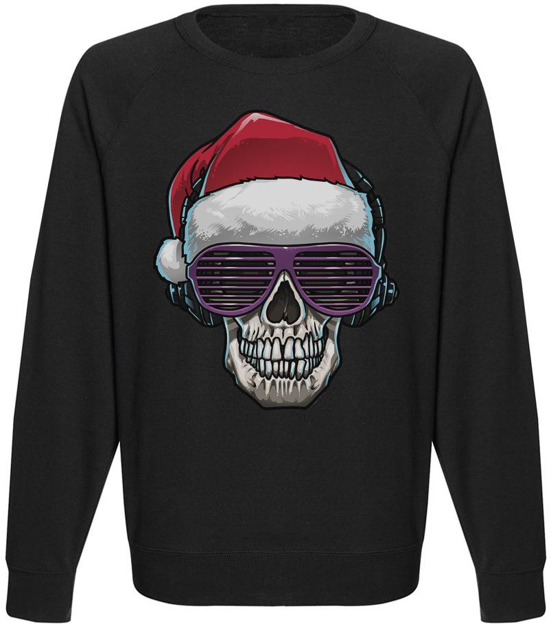Мужской свитшот Cool Santa (чёрный)