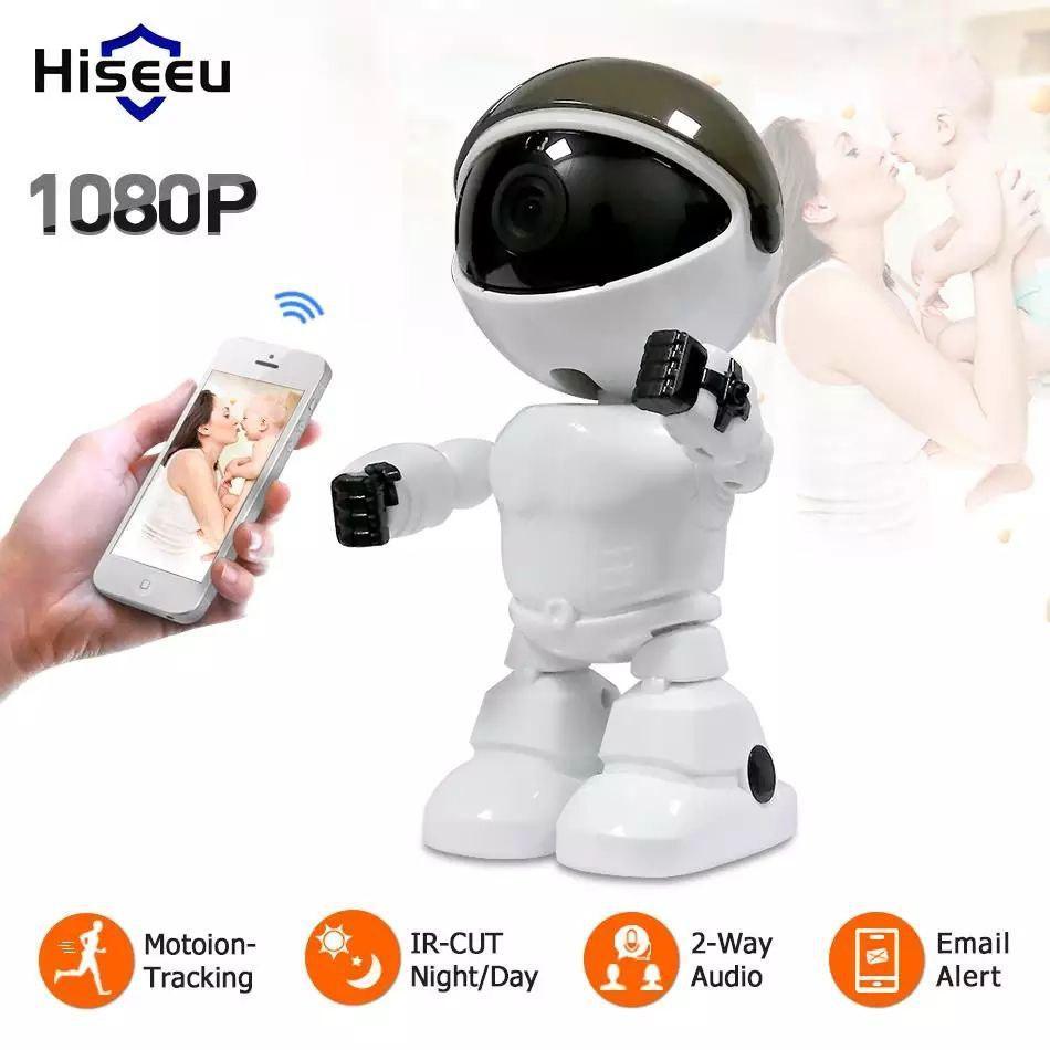 Hiseeu Robot Camera  1080 P. Интеллектуальная WiFi камера с функцией автоматического слежения.YCC365 Plus