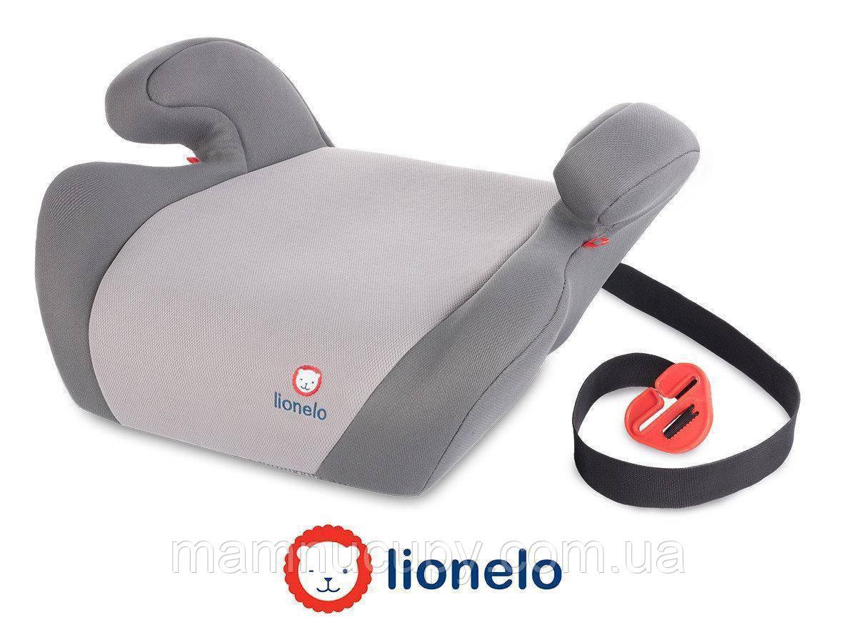 Детское автокресло-бустер Lionelo Luuk 15-36 кг  Польша цвет серый