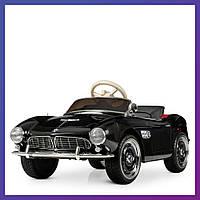 Детский электромобиль BMW c пультом Bambi M 4169 EBLR-2 черный   Дитячий електромобіль Бембі чорний