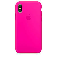 Накладка Apple Silicone Case iPhone X XS 5,8 HC Barbie Pink Розовый