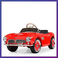 Детский электромобиль BMW c пультом Bambi M 4169 EBLR-3 красный   Дитячий електромобіль Бембі червоний