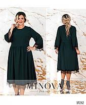 Женское платье с отделкой из французкого кружева и украшением с 50 по 64  размер, фото 3