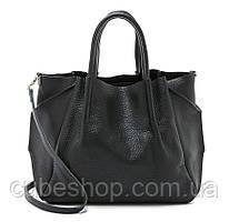 Женская кожаная сумка Poolparty Soho Remix (черная)