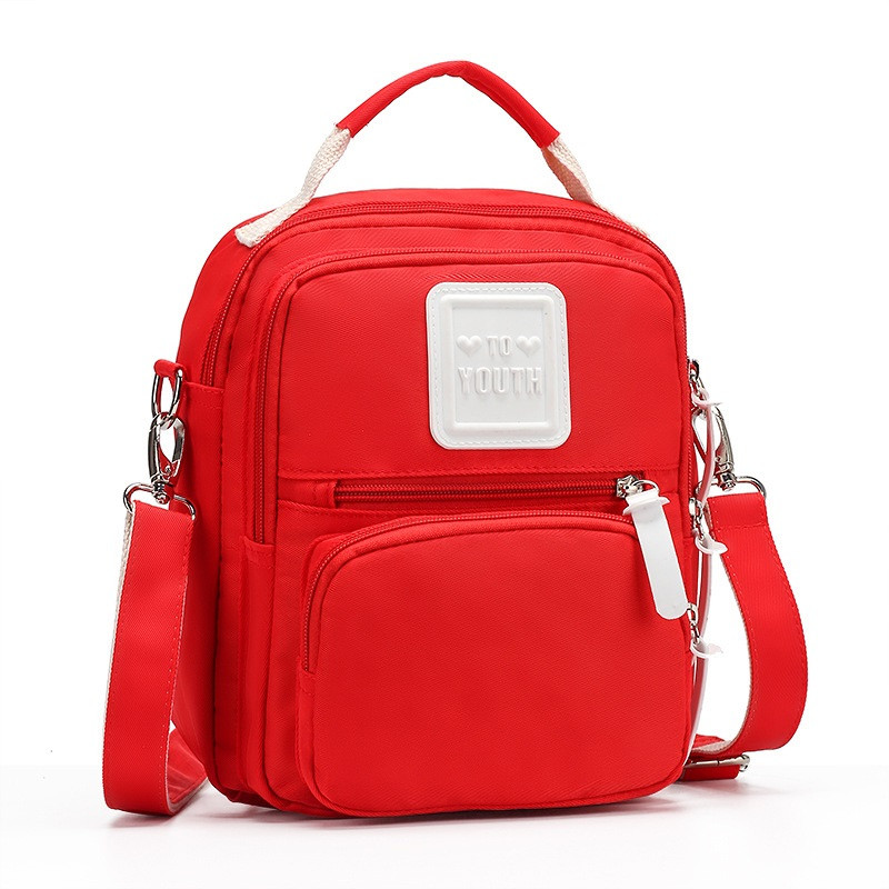 """Мини рюкзак Lagaffe 1088 """"To Youth"""" из эко ткани с водоотталкивающими свойствами и 6 карманами, 5л"""