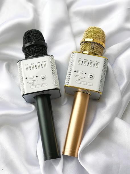 Беспроводной караоке микрофон - bluetooth колонка Q9 - 2in1. +ПОДАРОК Чехол