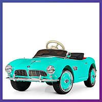 Детский электромобиль BMW c пультом Bambi M 4169 EBLR-5 бирюзовый | Дитячий електромобіль Бембі бірюзовий