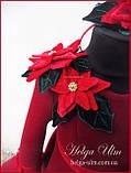 """Тепла Святкова сукня """"Різдвяна зірка"""" для дівчинки 110, фото 2"""
