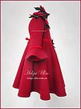 """Тепла Святкова сукня """"Різдвяна зірка"""" для дівчинки 110, фото 3"""