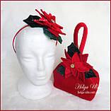 """Тепла Святкова сукня """"Різдвяна зірка"""" для дівчинки 110, фото 5"""