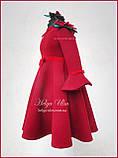 """Тепла Святкова сукня """"Різдвяна зірка"""" для дівчинки 110, фото 7"""