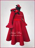 """Тепла Святкова сукня """"Різдвяна зірка"""" для дівчинки 110, фото 8"""
