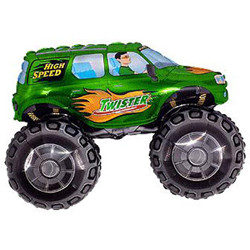 Куля фольгований фігура машина Джип БАГГІ зелений Flexmetal (Іспанія), 91 см зелений
