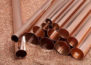 Труба медная 105х2,5 мм твёрдая (мягкая) в прямая и бухтах М1 М2