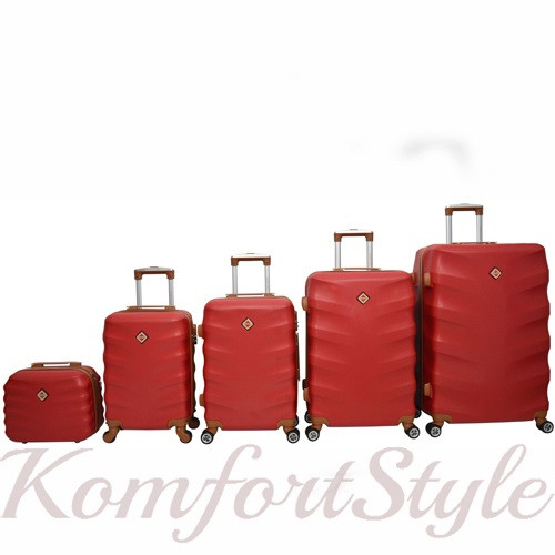 Набор дорожных чемоданов Bonro Next  5 штук бордовый (10060504)