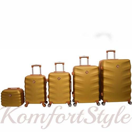 Набор дорожных чемоданов Bonro Next  5 штук золотой (10060502)