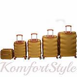 Набор дорожных чемоданов Bonro Next  5 штук золотой (10060502), фото 2