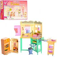 Детская игрушечная мебель Глория Gloria для кукол Барби Кухня 21016. Обустройте кукольный домик