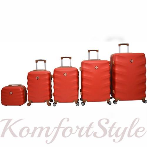 Набор дорожных чемоданов Bonro Next  5 штук красный (10060505)