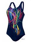 Купальник Self  для бассейна с ярким принтом спинка борцовкой, фото 3
