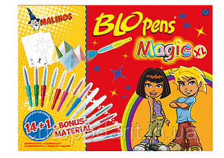 Волшебные фломастеры MALINOS BLOpens Magic 10+2