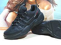 Мужские кроссовки BaaS Rivah черные кожа 44 р.