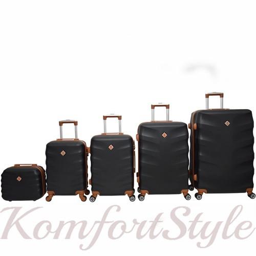 Набор дорожных чемоданов Bonro Next  5 штук черный (10060500)
