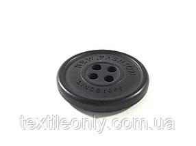 Пуговицы круглые цвет черный 22 мм