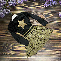 Платье с пышной юбочкой черное для девочки, фото 1