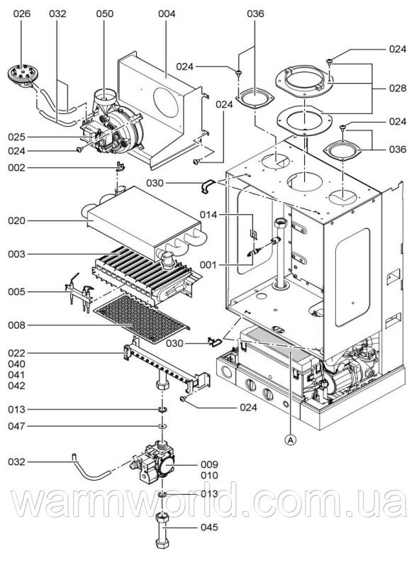 Взрывной чертеж Схема WH1B 2 Турбо