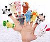 Набір тваринок на пальці, іграшка 7х3см , ляльковий театр . 10 шт.
