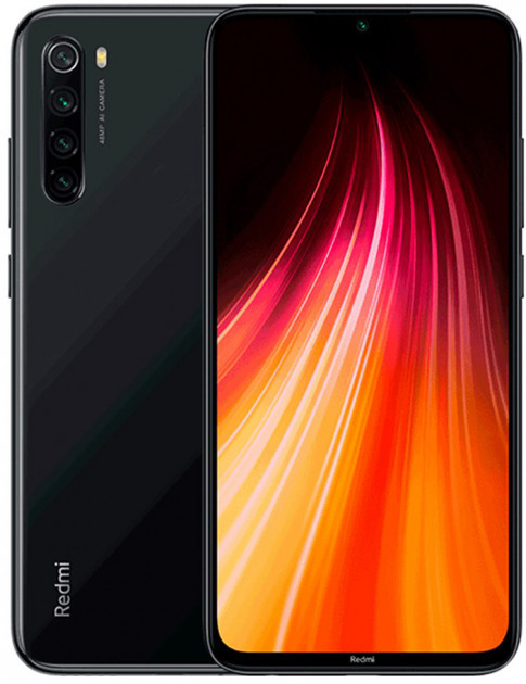 Смартфон Xiaomi Redmi Note 8 4/128Gb Space Black  Международная версия GSM+GSM