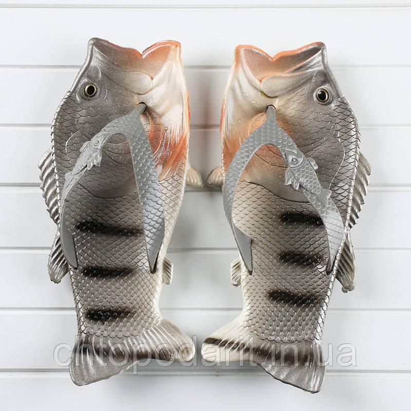 Вьетнамки рыбы тапки в виде окуня Код 10-0936
