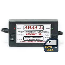 Импульсное зарядное устройство для автомобильного аккумулятора АИДА 3s для свинцово-кислотных аккумуляторов