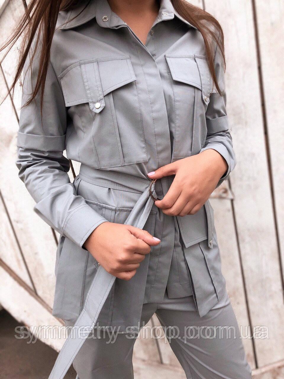 Жакет T010, серый