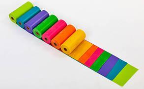 Лента эластичная для фитнеса и йоги в рулоне CUBE (р-р 5,5мx15смx0,45мм) FI-6256-5_5 (латекс, цвета в ассортим